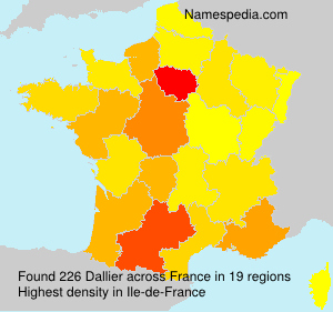 Surname Dallier in France