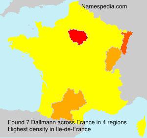 Surname Dallmann in France