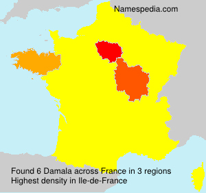 Surname Damala in France