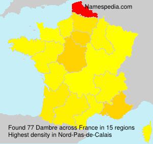 Familiennamen Dambre - France