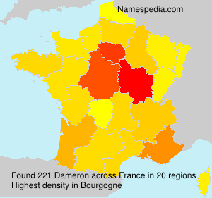 Surname Dameron in France