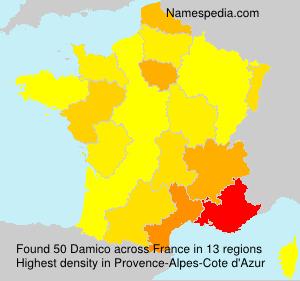 Familiennamen Damico - France