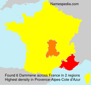 Surname Dammene in France