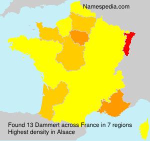 Surname Dammert in France