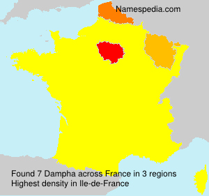 Surname Dampha in France