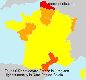 Surname Danat in France