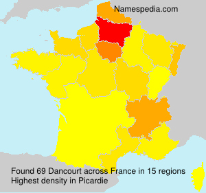 Surname Dancourt in France