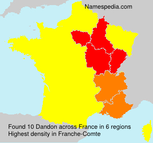 Surname Dandon in France