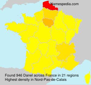 Surname Danel in France