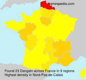 Surname Dangain in France