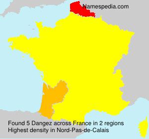 Surname Dangez in France