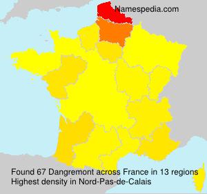 Familiennamen Dangremont - France
