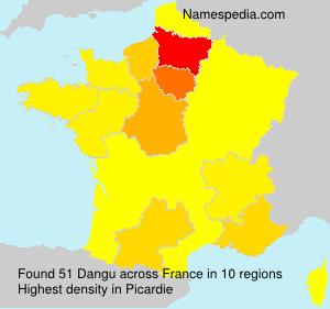 Surname Dangu in France