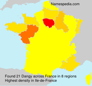 Surname Dangy in France