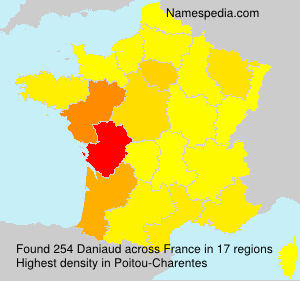 Surname Daniaud in France