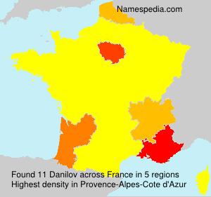 Familiennamen Danilov - France