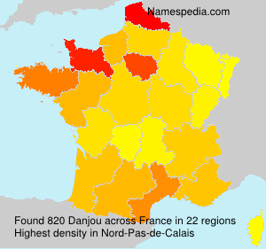 Surname Danjou in France