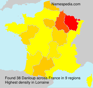 Surname Danloup in France
