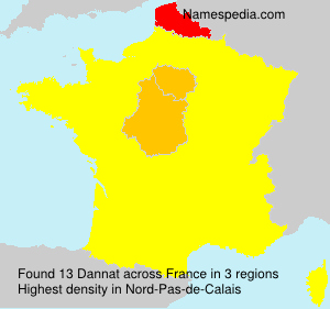 Surname Dannat in France