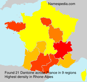 Surname Dantoine in France