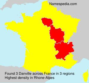 Surname Danville in France