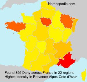 Familiennamen Dany - France