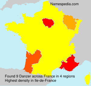 Surname Danzer in France