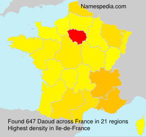 Surname Daoud in France