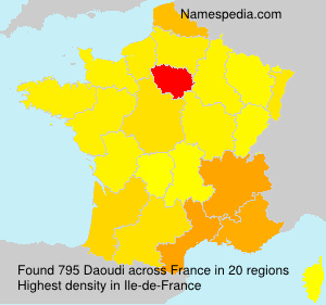 Familiennamen Daoudi - France