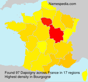 Familiennamen Dapoigny - France