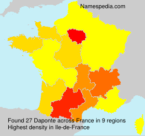 Surname Daponte in France