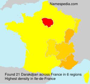 Surname Darakdjian in France
