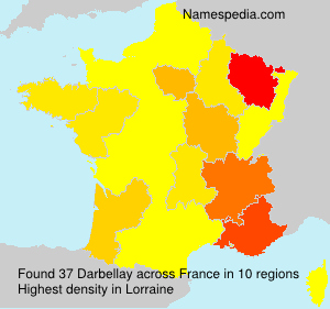 Surname Darbellay in France