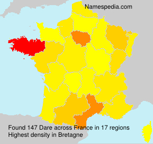 Surname Dare in France