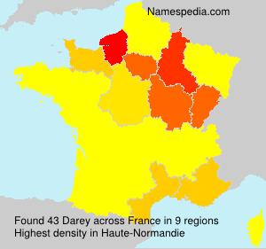 Surname Darey in France