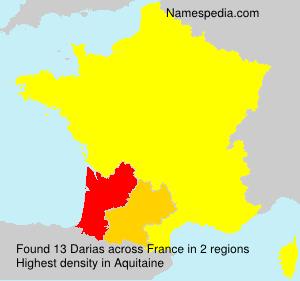 Surname Darias in France