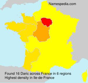 Surname Daric in France