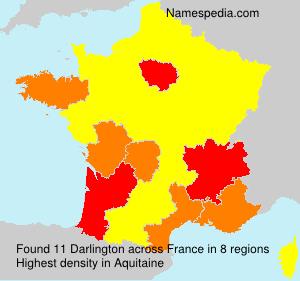 Surname Darlington in France