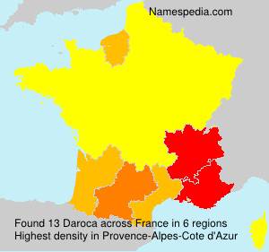 Surname Daroca in France