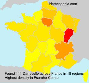 Surname Dartevelle in France