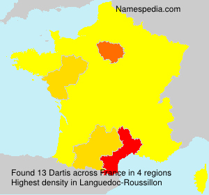 Surname Dartis in France