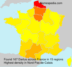 Surname Dartus in France