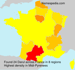 Surname Darul in France