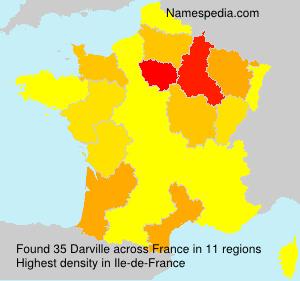 Surname Darville in France