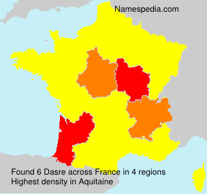 Familiennamen Dasre - France