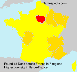 Surname Dass in France