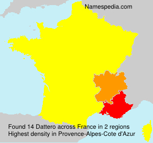 Surname Dattero in France