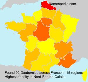 Surname Daubercies in France