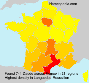Surname Daude in France