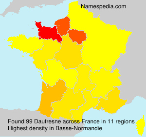 Surname Daufresne in France